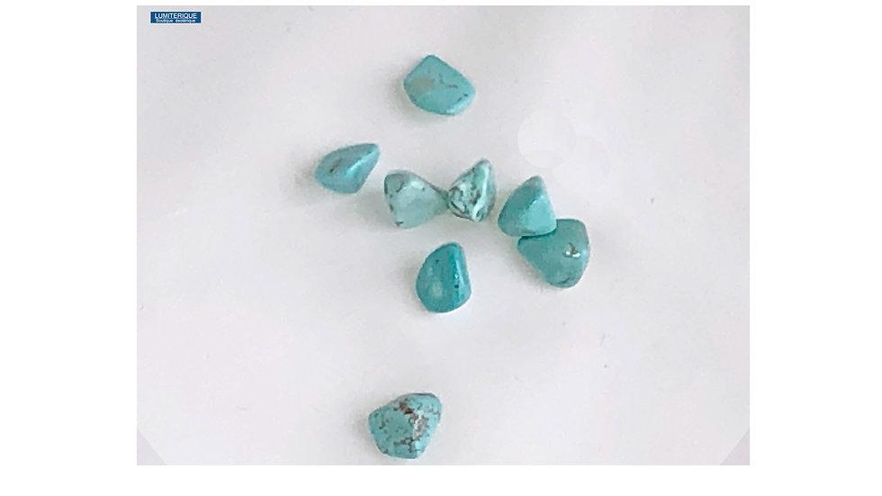 Petite pierre roulée Turquoise