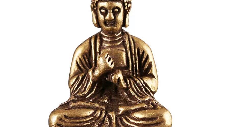 Statuette Bouddha en laiton