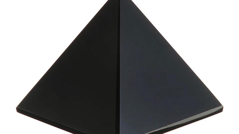 Pyramide de pierre Obsidienne noire