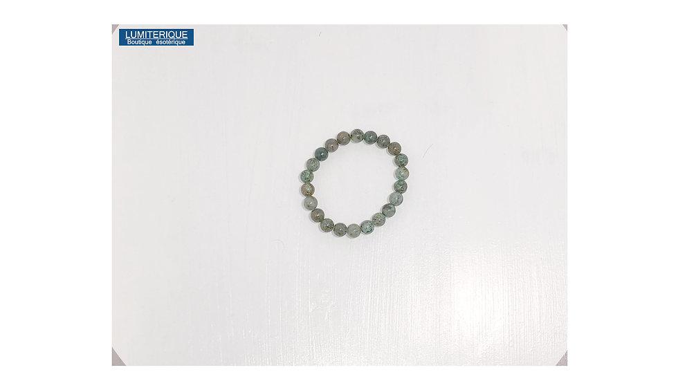 Bracelet en Turquoise vert de lithothérapie