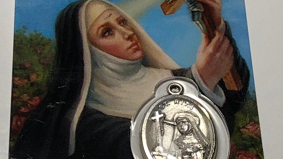 Carte de prière Sainte Rita