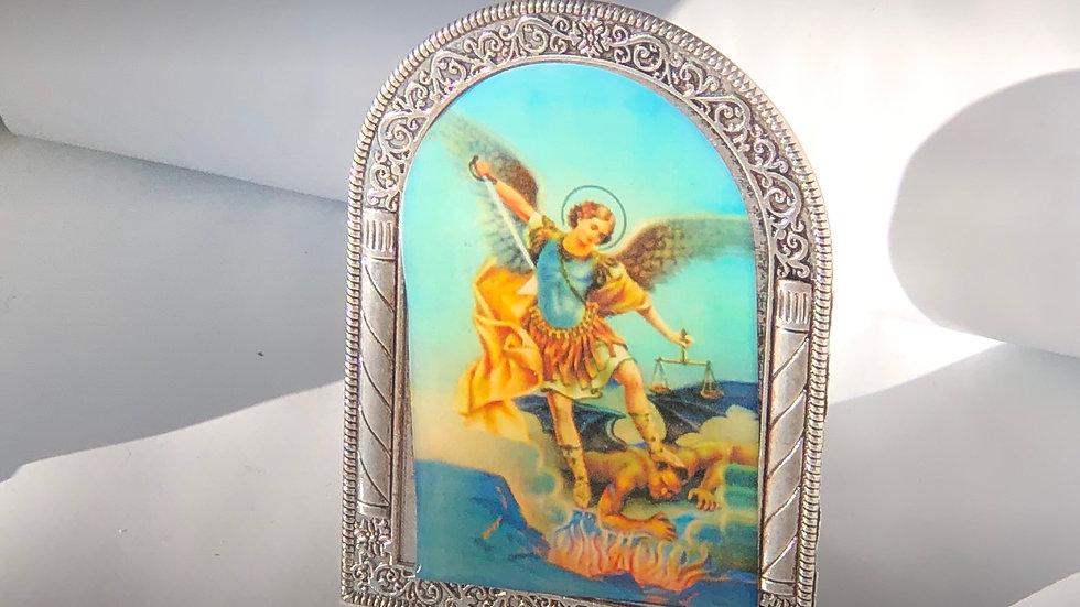 Icône Saint Michel Archange sur pied