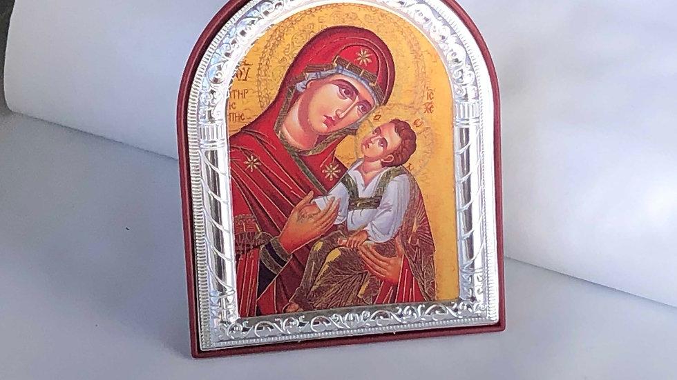 Icône de la Vierge Marie sur pied