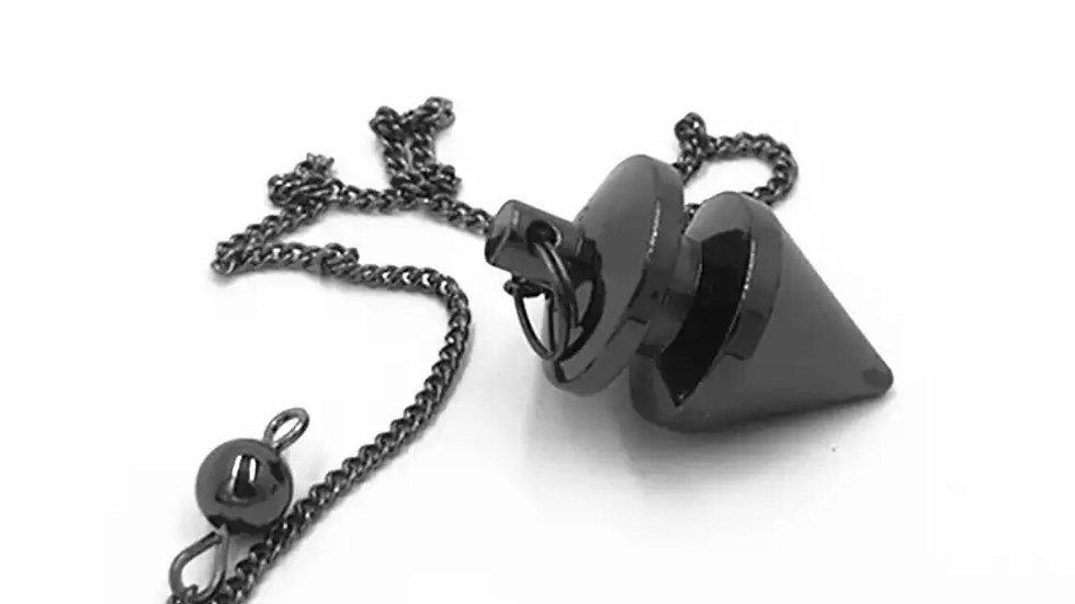 Pendule divinatoire métal noir