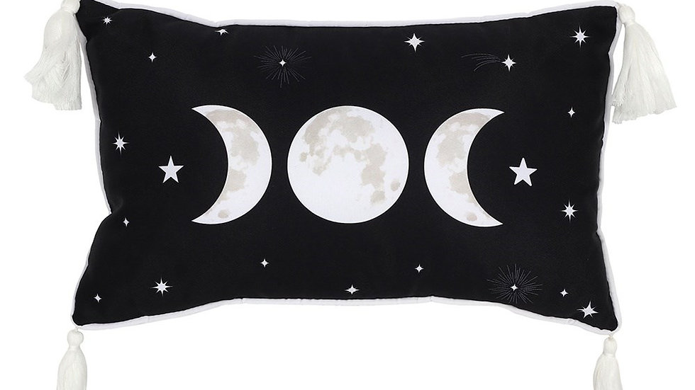 Coussin Triple lune wicca