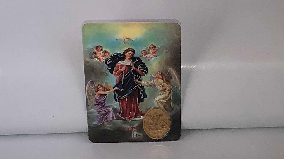 Carte de prière Marie qui défait les nœuds