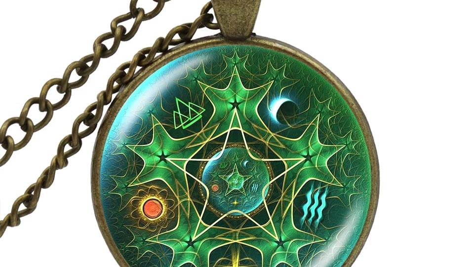 Pendentif talisman pentacle