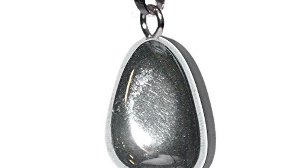 Pendentif pierre roulée Hematite belière
