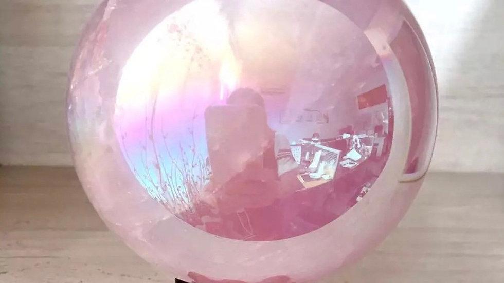 Boule de cristal quartz rose