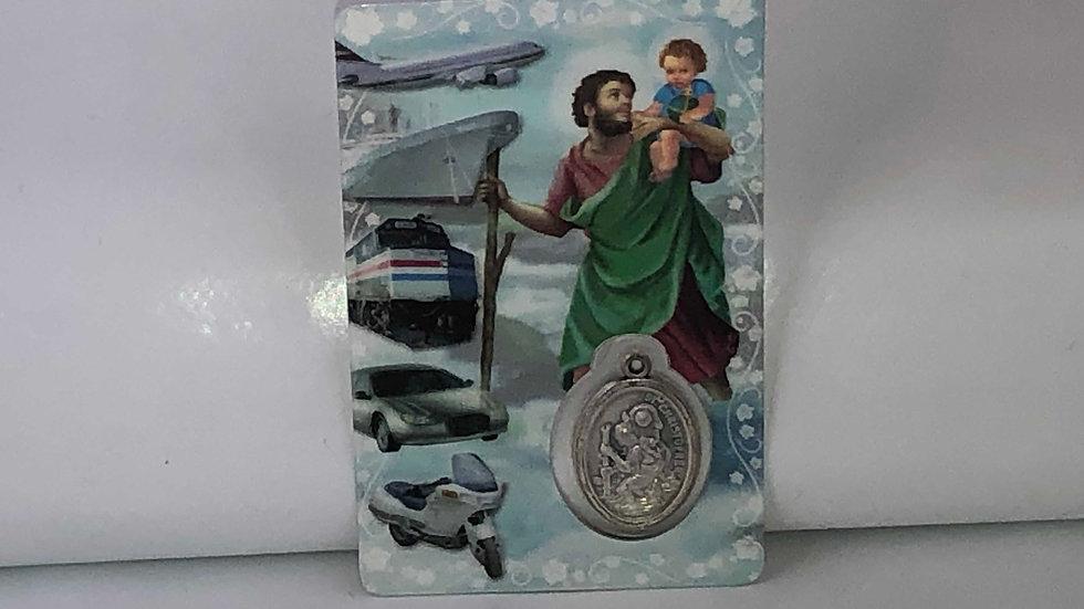Carte de prière Saint Christophe