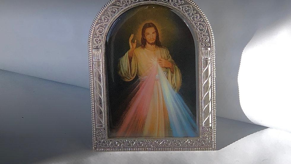 Icône de Jésus Christ sur pied