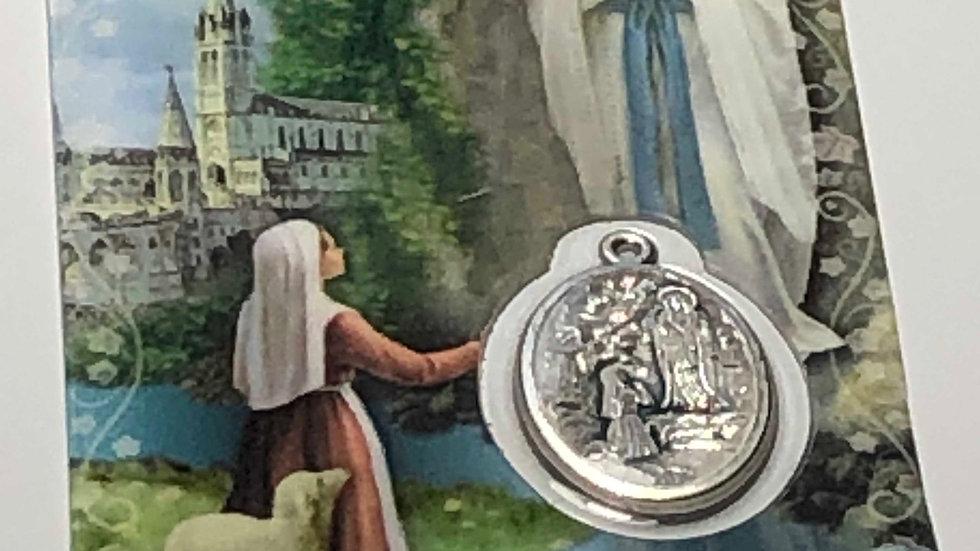 Médaille Notre Dame de Lourdes