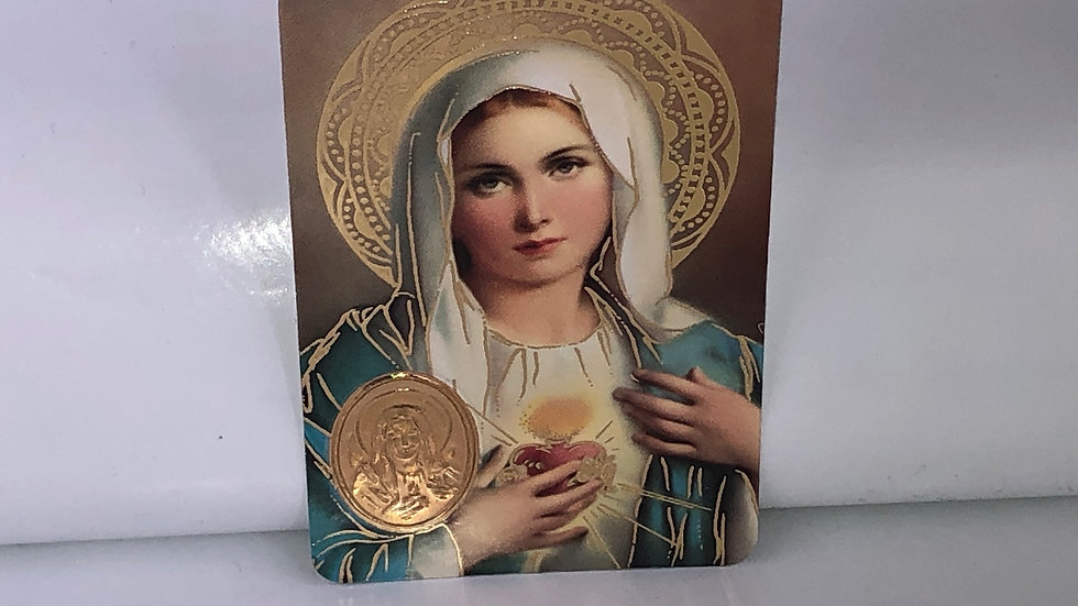 Carte de prière Cœur Immaculé de Marie