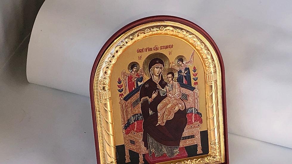 Icône de la Vierge sur pied