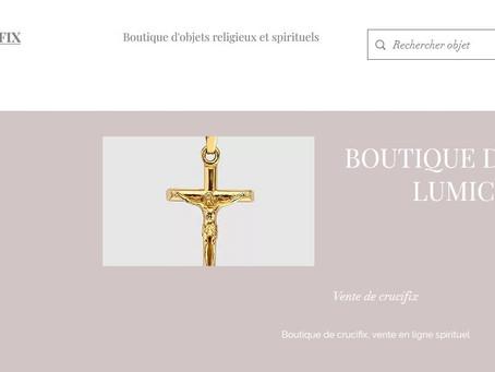 Boutique d'objets religieux Lumicrucifix.com