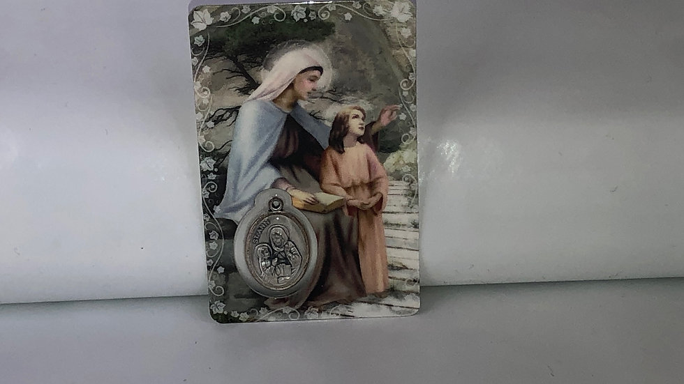 Carte de prière Sainte Anne