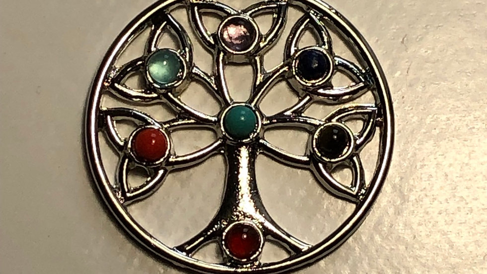 Pendentif chakras arbre de vie