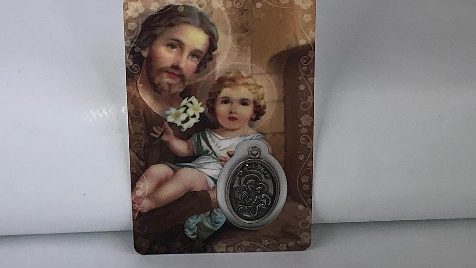 Carte de prière de Saint Joseph