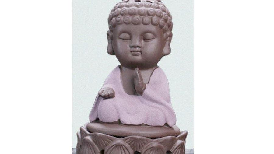 Statuette Bouddha brûleur encens