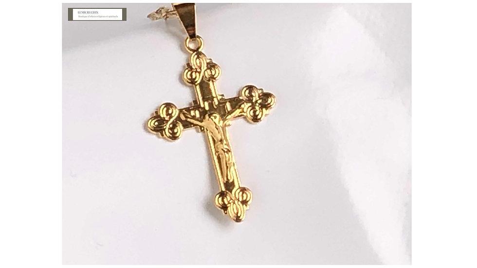 Crucifix de cou doré