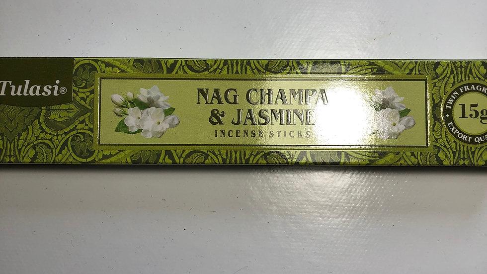 Bâtons d'encens Nag Champa et Jasmin