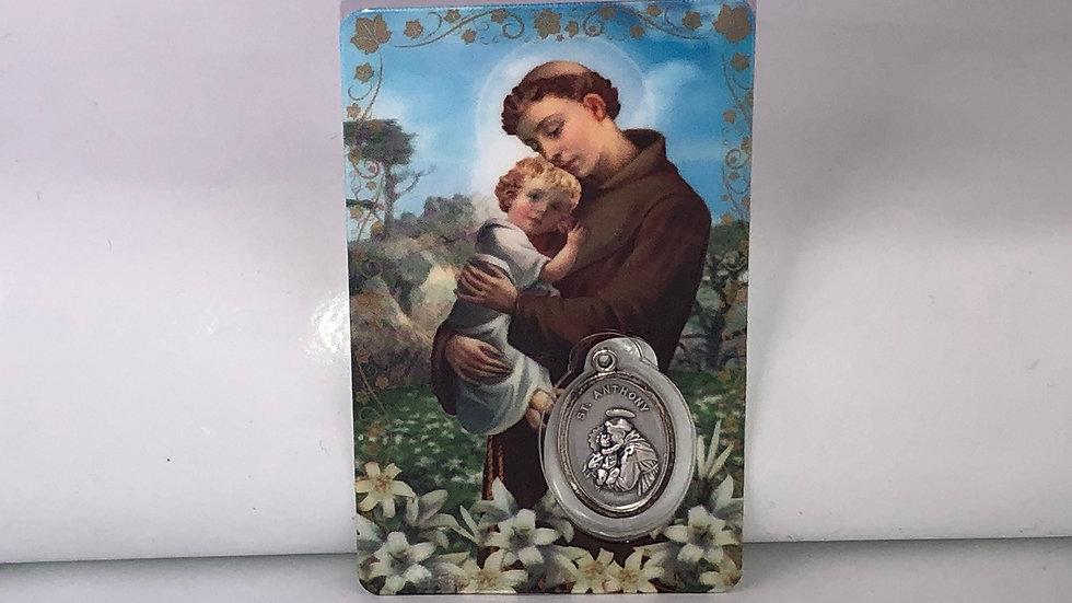 Carte de prière Saint Antoine