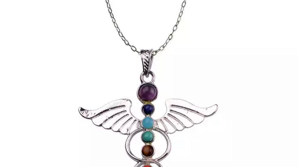 Pendentif chakras ange