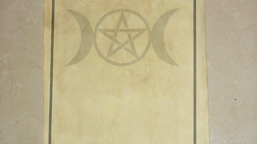 Enluminure Triple lune Wicca