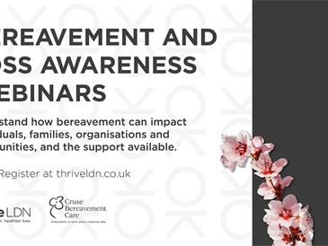 Webinars for workers supporting those experiencing bereavement
