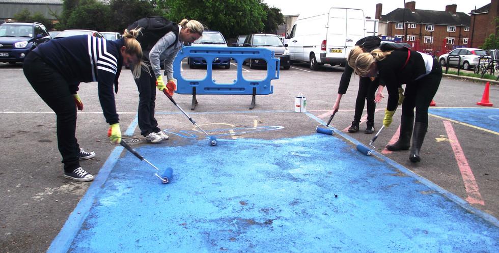 Painting of car park.JPG