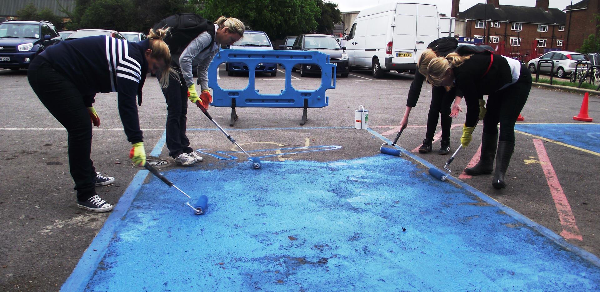 Painting car  park.JPG