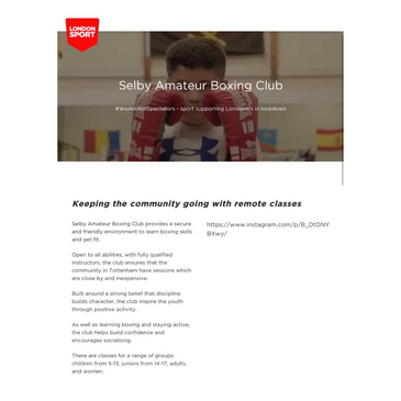 Latest News from Selby Boxing Club (REOPENING THE CLUB ON MONDAY 27 JULY)