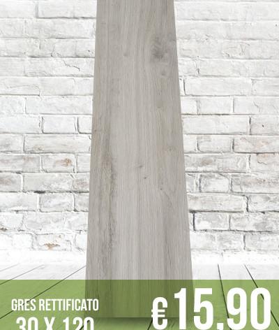 Gres porcellanato rettificato 30 x 120 | Effetto legno