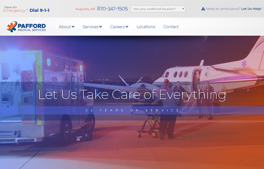 Pafford EMS website