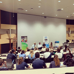 Speaking to our future leaders at the UN Youth Australia Conference in Cairns.
