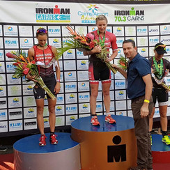 Meeting the winners of the Cairns Iron Man.
