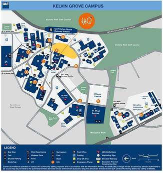 QUT Kelvin Grove map