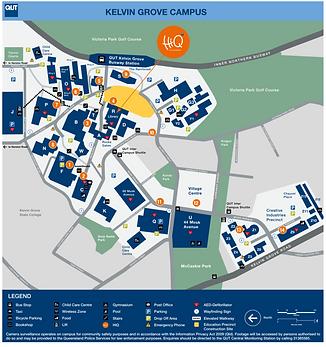 QUT Kelvin Grove map