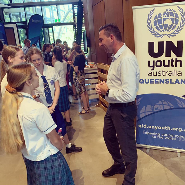 Listening to the perspective of our future leaders at the UN Youth Australia Conference in Cairns.