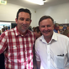 With the Leader of the Labor Party, Anthony Albanese MP.