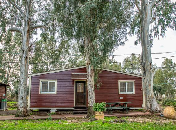 בקתות עץ כפריות