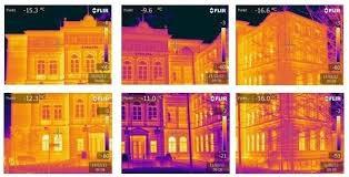 Thermalenergieverteilung an einer Hausaussenwand