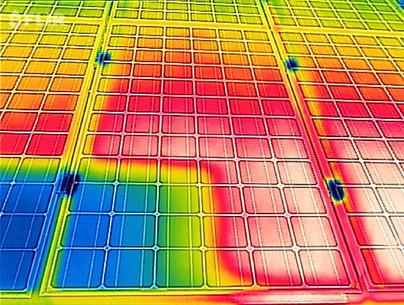 Effektiviätsmessung an einem Solarpannel