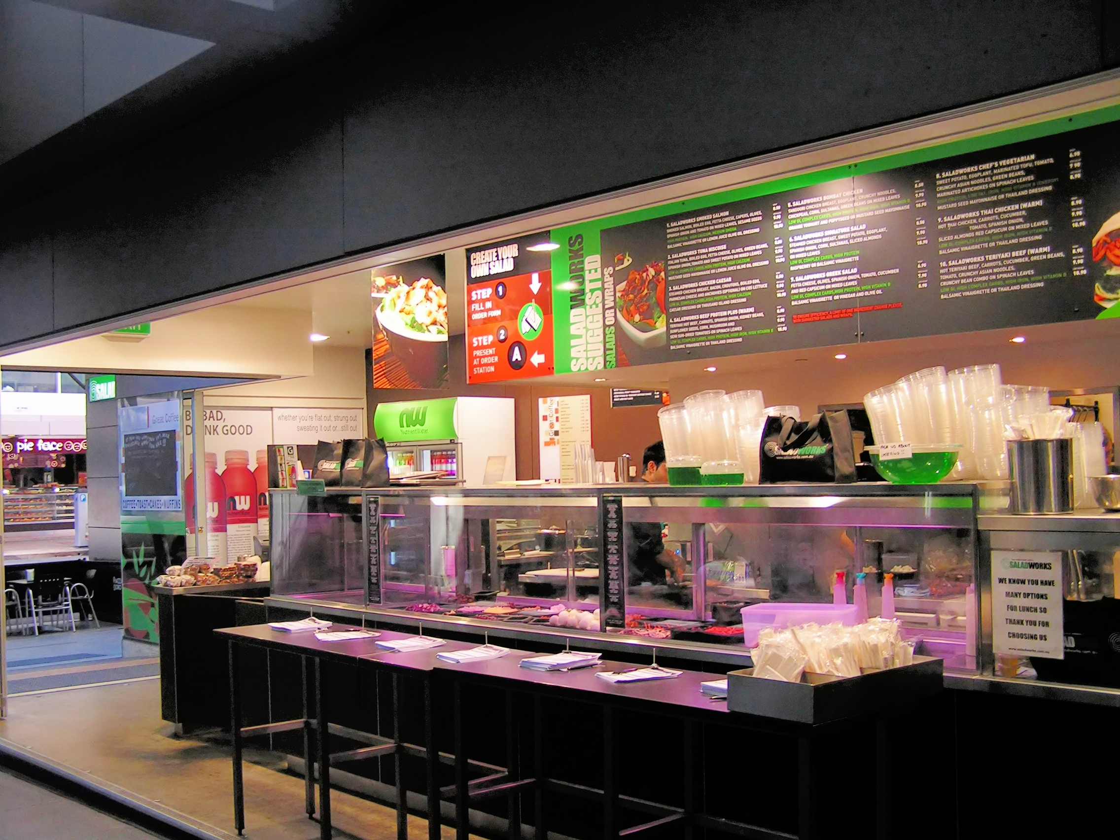 Saladworks-ClarenceStDisplay+Menu