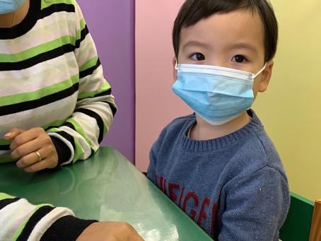 Teaching children to wear masks
