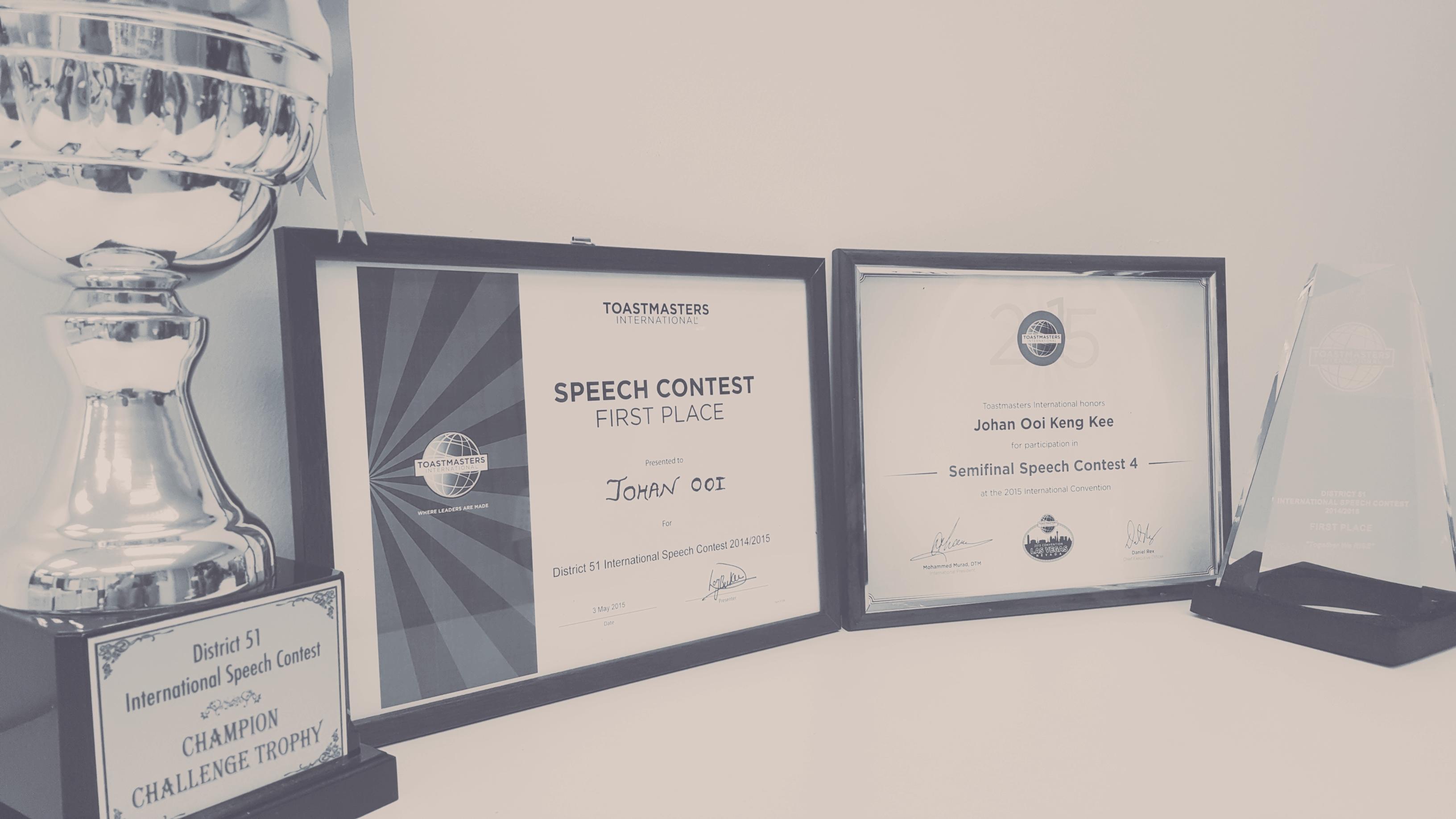 semi finalist world championship of public speaking