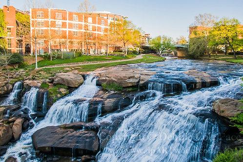 """Greenville, S.C. Falls at Sunrise"""
