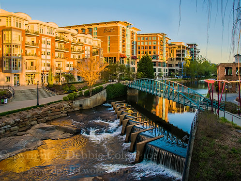 """Greenville, S.C. Bridge at Sunrise"""