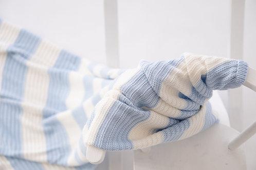 Knitted Pram Blanket - Hydrangea