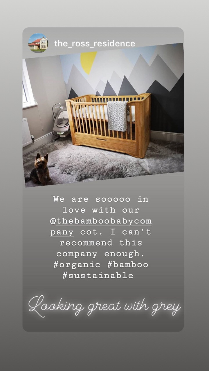 The Bamboo Baby Company customer review of the solid organic bamboo cot bed